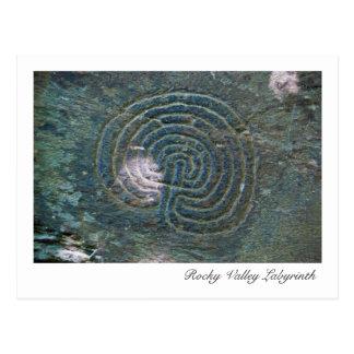 Felsige Tal-Labyrinth-Postkarte Postkarte