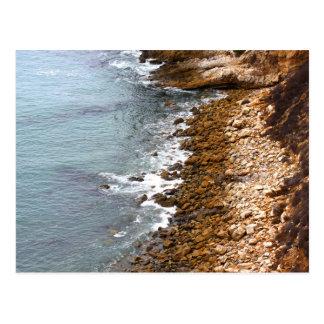 Felsige Ufer von Palos Verdes Postkarte