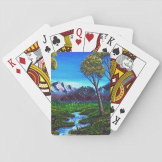 Felsiger Berg abstrakt Spielkarten