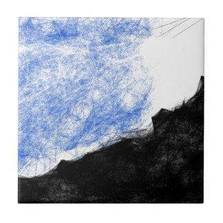 felsiger Berg und Traum Keramikfliese