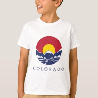 Felsiger GebirgsStaats-Flagge Colorados T-Shirt