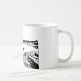 Felsiger See in Feder Kaffeetasse