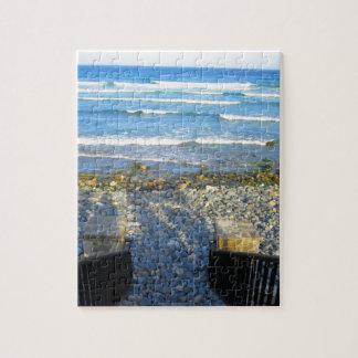 Felsiger York-Strand-Zugang Puzzle