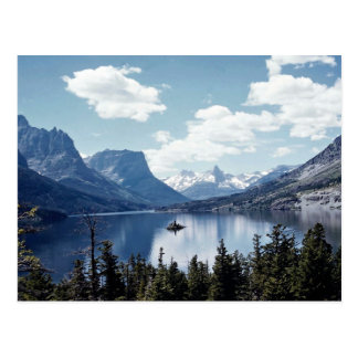 Felsiges Mountainseeansicht, Glacier Nationalpark, Postkarte