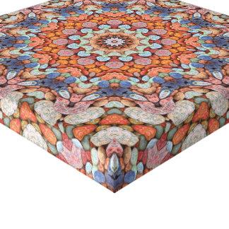 Felsiges Straßen-   Vintages Kaleidoskop Leinwanddruck