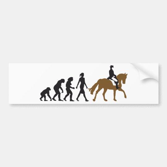 female horse rider autoaufkleber