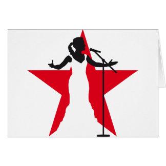 female opera singer woman karte