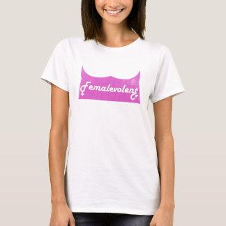 Femalevolent das T-Stück lustiger Frauen T-Shirt