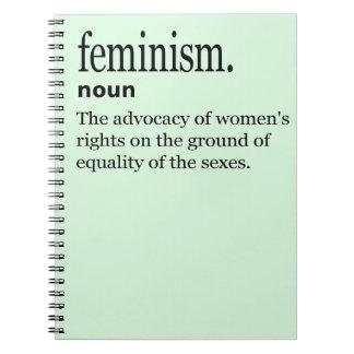 Feminismus-Definition Notizblock