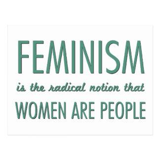 Feminismus: Der radikale Begriff, dass Frauen Leut Postkarten
