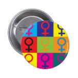 Feminismus-Pop-Kunst Button