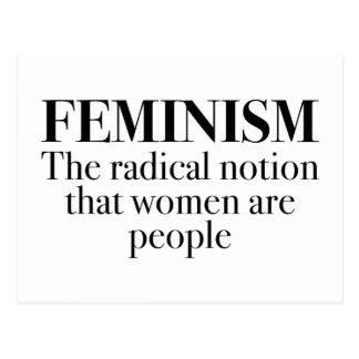 Feminismus Postkarte