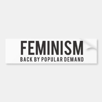 Feminismus-Rückseite durch populäre Nachfrage Autoaufkleber