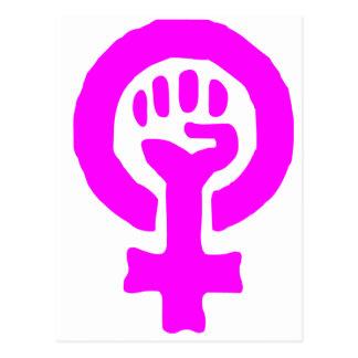 Feminismus-Symbol Postkarte