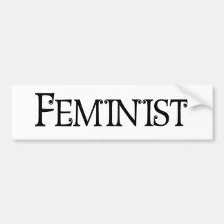 Feministisch Autoaufkleber