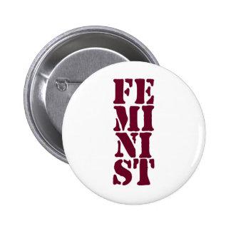 Feministisch! Runder Button 5,1 Cm