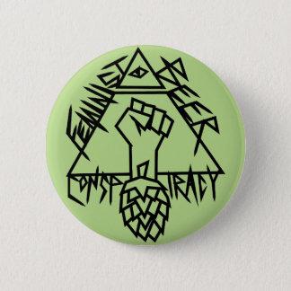 Feministische Bier-Verschwörung Runder Button 5,1 Cm