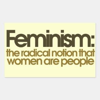 Feministische Definition Rechteckiger Aufkleber
