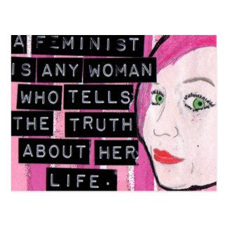 Feministische Postkarte