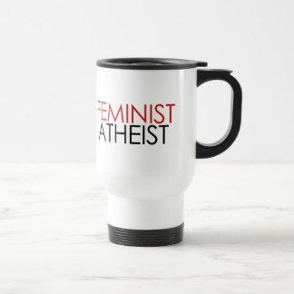 Feministischer Atheist Edelstahl Thermotasse