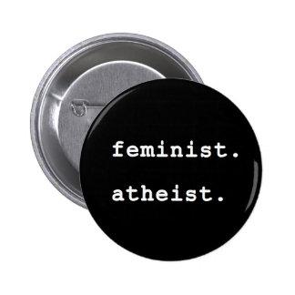 Feministischer atheistischer Knopf Runder Button 5,7 Cm