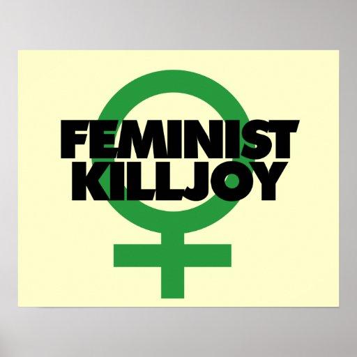 Feministischer Killjoy Plakate