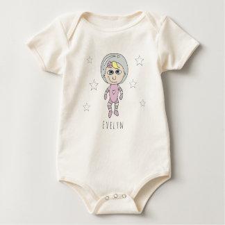 Feministisches Baby-Astronauten-Traum-Gekritzel Baby Strampler