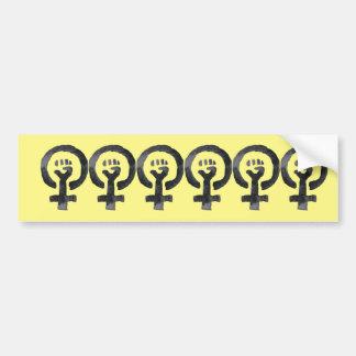 Feministisches Faust-Symbol Autoaufkleber