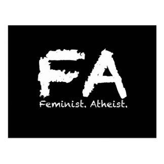 Feminst. Atheist Postkarte