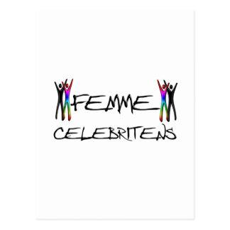 Femme Berühmtheit Postkarte