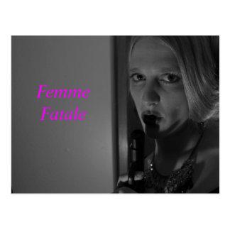 Femme fatale Postkarte