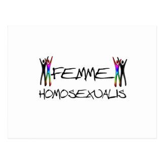 Femme Homosexualis Postkarte