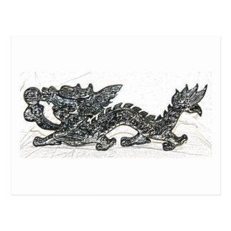 Feng Shui Drache Postkarte