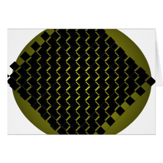 Feng Shui Fusions-Armee-Grün-Schwarz-abstrakte Karte