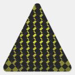 FengShui-Fusions-Armee-Grün-Schwarz-geometrischer  Dreieckaufkleber