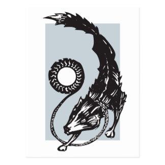 Fenris der Skandinavier-Wolf Postkarte