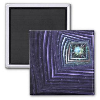Fenster-abstraktes Fraktal Quadratischer Magnet