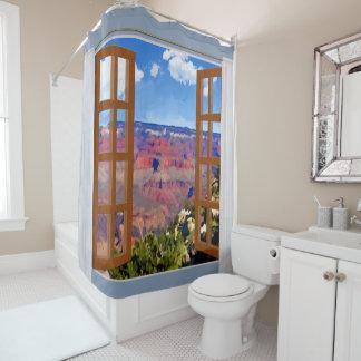 Fenster-Ansicht-Grand- CanyonNationalpark Duschvorhang