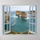 Fenster-Ansicht-Ozean Poster