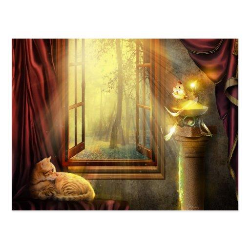 Fenster-Einkaufspostkarte Postkarten