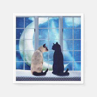 Fenster-Katzen Serviette