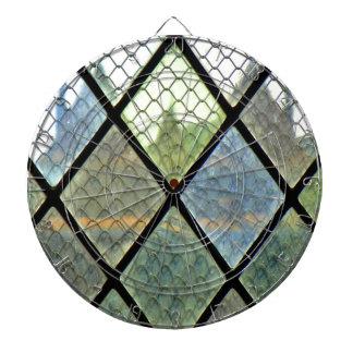 Fenster-Kunst Dartscheibe