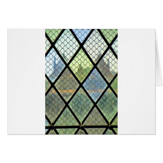 Fenster-Kunst Grußkarte