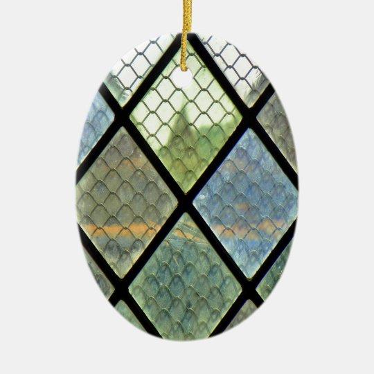 Fenster-Kunst Ovales Keramik Ornament