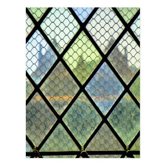 Fenster-Kunst Postkarte