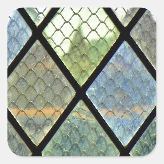 Fenster-Kunst Quadratischer Aufkleber