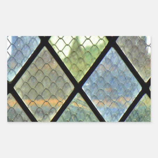 Fenster-Kunst Rechteckiger Aufkleber