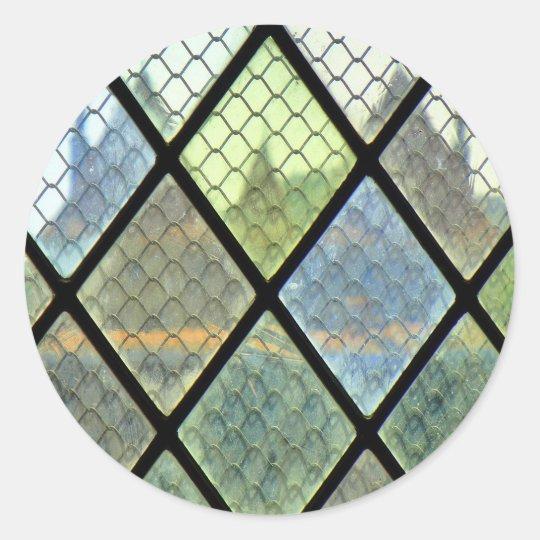 Fenster-Kunst Runder Aufkleber