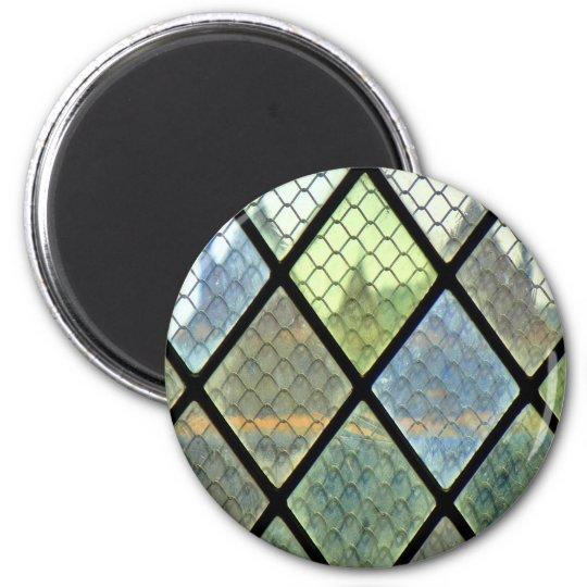 Fenster-Kunst Runder Magnet 5,1 Cm
