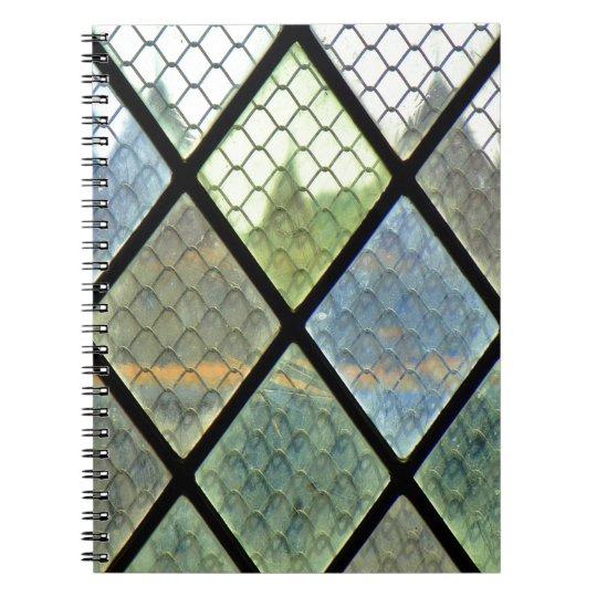 Fenster-Kunst Spiral Notizblock